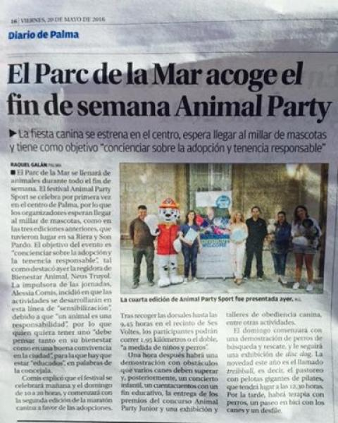 Animal Party Sport 2016 Ses Voltes